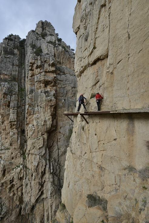 El Caminito del Rey se encuentra en las paredes del desfiladero de los Gaitanes, en El Chorro, Málaga. Foto: Sebastián Álvaro