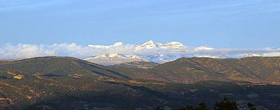 Pirineos desde Monrepos. Foto: Sebastián Álvaro