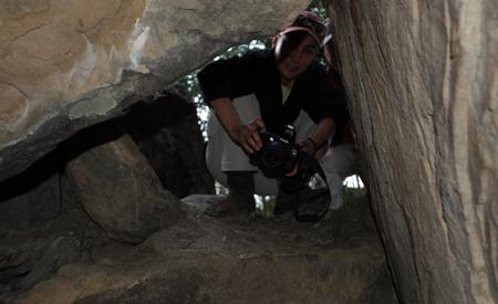 Entrada a la cueva-abrigo