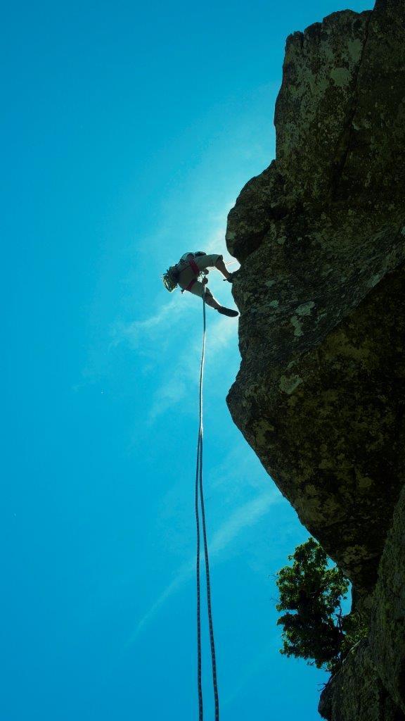 Escalada Roque Agando. Foto: Sebastián Álvaro