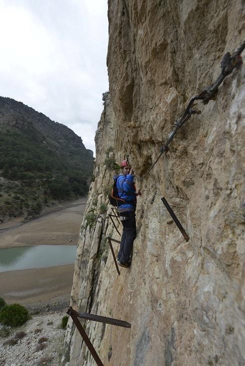 El Caminito del Rey algunos lo consideran el camino más peligroso del mundo. Foto: Sebastián Álvaro