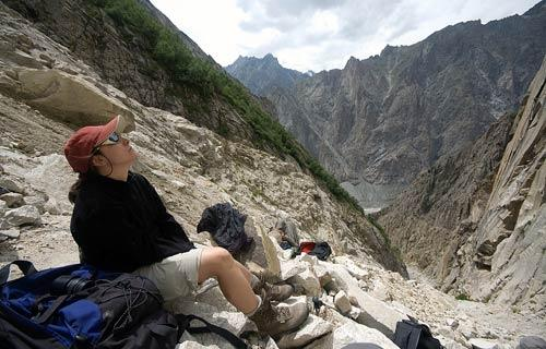 Ana Marcos en el valle de Gannak