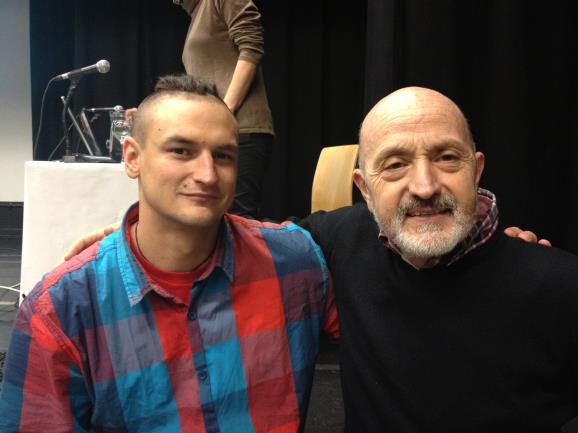 Adam Bieleki con Sebastián Álvaro. Foto: Sebastián Álvaro