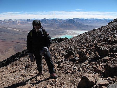 Cerca de la cima del volcán Licáncabur. Foto: Sebastián Álvaro