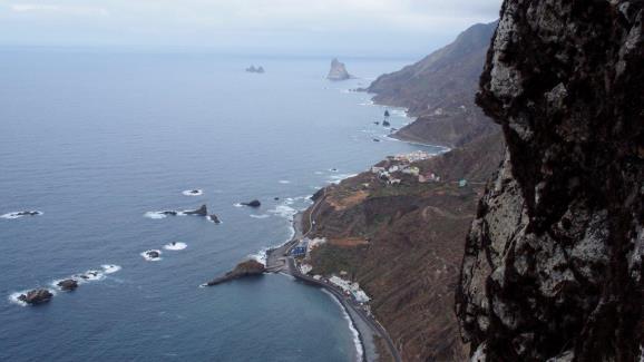 La costa desde el Roque de las Animas. Foto: Sebastián Álvaro