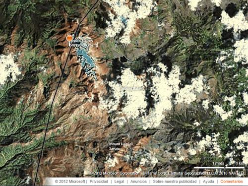 El Monte Stanley en el Mapa de Bing