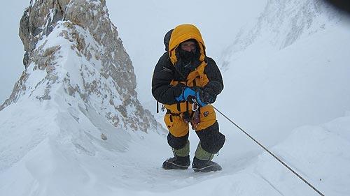 Alex Txikon llegando al Campo 1, situado a 6.200 metros. Foto: Alex Txikon