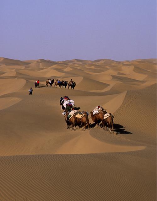 Travesía del desierto del Taklamakan. Foto: Sebastián Álvaro