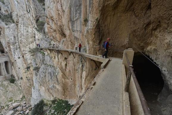 El Caminito del Rey se encuentra cerrado por restauración. Foto: Sebastián Álvaro